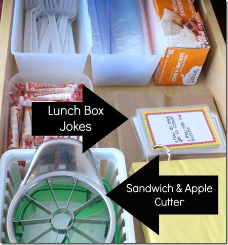lunch prep drawer