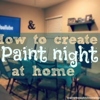 How to create a Paint Night at home