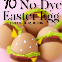 10 No Dye Easter egg ideas
